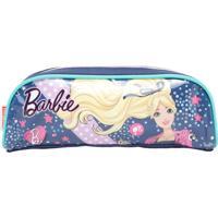 Estojo Sestini Barbie 17M Plus Simples Azul