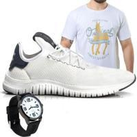 Kit Tênis + Camiseta + Relógio Polo Joy Masculino - Masculino