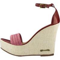 Sandália Barth Shoes Solaris Verniz Feminina - Feminino-Bordô