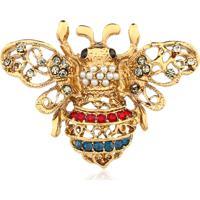 Broche Rincawesky Mariposa Vazada Dourada - Tricae