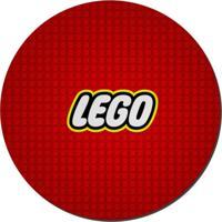 Mouse Pad Nerderia Lego Logo Vermelho
