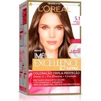 Coloração Imédia Excellence L'Oréal Paris 5.1 Castanho Claro Acinzentado