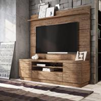 Rack Com Painel Londres Linea Brasil Para Tv Até 60'' - Naturale
