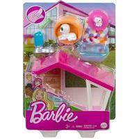 Barbie - Mini Playset Com Pets - Pet Casinha Mattel