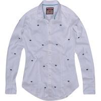 Camisa Khelf Libélula Bordada Off White