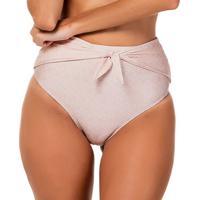 Calcinha Hot Pant Com Sobreposição- Rosê- Fleeuse Flee