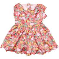 Vestido Lilica Ripilica Menina Coral