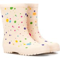 Stella Mccartney Kids Dotted Wellies - Neutro