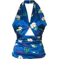 Racil Blusa Frente Única Floral - Azul