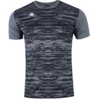 Camisa Kappa Jenner - Masculina - Cinza Escuro