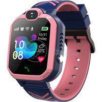 Smartwatch Relógio Inteligente Infantil Criança Q12 Localização Chamadas Sos Android E Ios Rosa