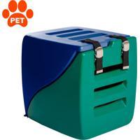 Caixa De Transporte Para Pet Happy Box Azul