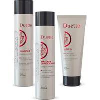 Kit Proteção Da Cor Duetto 1 Shampoo 300Ml+ 1 Cond 300Ml+ 1 Leave-In 200Ml - Unissex-Incolor