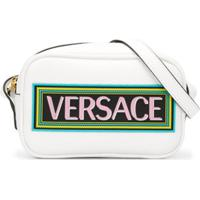 Young Versace Bolsa Tiracolo Com Estampa De Logo - Branco
