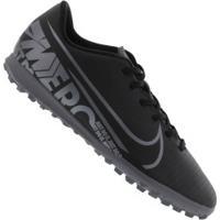Chuteira Society Nike Mercurial Vapor 13 Club Tf - Adulto - Preto/Cinza