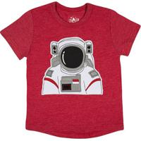 Camiseta Mescla ''Astronauta''- Vermelha & Brancatip Top