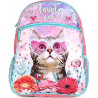 Mochila Infantil Pacific Lovely Pets - Feminino-Rosa