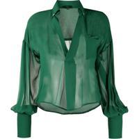 Jejia Blusa Translúcida Verde