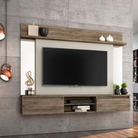Painel Para Tv Até 55 Polegadas Tannat Canela E Areia