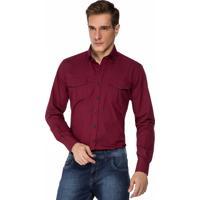 Camisa Hugo Rossi Micro Xadrez Vermelho