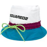 Dsquared2 Colour Block Bucket Hat - Branco