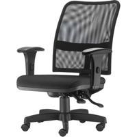 Cadeira Soul Assento Courissimo Preto Braco Curvado Base Metalica Com Capa - 54217 - Sun House
