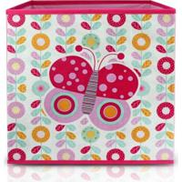 Caixa Organizadora Infantil Jacki Design Pequeninos Rosa - Kanui