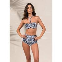 Biquíni Hot Pants Luísa Riviera - Larissa Minatto Azul