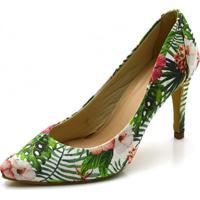 Scarpin Gisela Costa Floral - Verde - Feminino - Dafiti