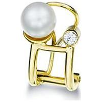 Piercing Ouro Amarelo Pérola E Diamantes