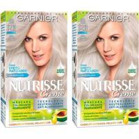 Kit Garnier Nutrisse - Coloração 12 Louro Platinado Perfeito Kit - Unissex-Incolor