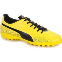 Chuteira Society Masculina Puma - Amarelo