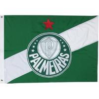 Bandeira Oficial Do Palmeiras 1,28 X 90 Cm - Unissex