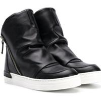 Cinzia Araia Kids Side Zip Boots - Preto