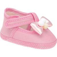 Sapato Com Laã§O Frontal- Rosa Claro- Griffgriff