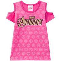 Blusa Manga Curta Infantil Menina Avengers Brandili-4