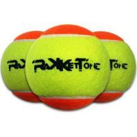 Kit 3 Bolas De Beach Tennis Rakkettone - Unissex