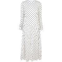Julien David Longsleeved Spot Print Dress - Branco