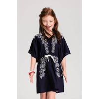 Vestido Infantil Com Estampa Efeito Bordado Puc