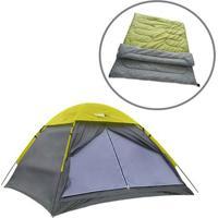Barraca De Camping Weekend Para 3 Pessoas Echolife Com Saco De Dormir Casal New Moon - Unissex