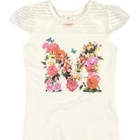 Blusa Floral- Off White & Rosa Claro- Marisolmarisol