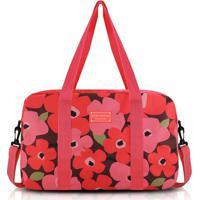 Bolsa De Viagem Jacki Design Poliéster - Feminino-Vermelho