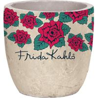 Cachepot Urban Home De Cerâmica Branco Flores Frida Kahlo N