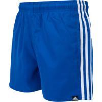 Bermuda Adidas 3S Vsl - Masculina - Azul/Branco