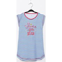 Pijama Infantil Candy Kids Camisola Meia Malha Listras - Feminino