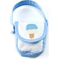 Bolsinha Baby Chocolate Porta Chupeta Azul