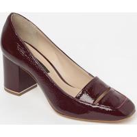 Sapato Tradicional Em Couro Envernizado Com Vazado- Vinhjorge Bischoff
