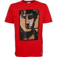 Camiseta Prada Face Winter Vermelha