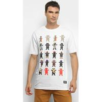 Camiseta Grizzly Gang'S All Here Masculina - Masculino-Branco