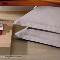 Fronha Platine- Bege Escuro- 70X50Cm- 300 Fiosbuettner